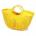 Цветные плетеные сумочки