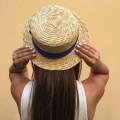 Соломенная шляпа канотье 10см